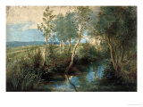 Landscape with Stream Overhung with Trees, 1637-1640 Giclée-Druck von Peter Paul Rubens