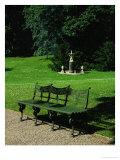 Cast Iron Bench and Fountain Lámina giclée por Karl Friedrich Schinkel