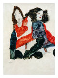 Two Girls Giclee Print by Egon Schiele