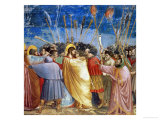 The Kiss of Judas, Mural Giclee Print by  Giotto di Bondone