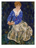 Portrait of Edith Schiele, the Artist's Wife, Seated, 139 Giclee Print by Egon Schiele