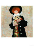 Portrait of a Woman with Black Hat (Gertrude Schiele), 1909 Giclee-vedos tekijn Egon Schiele