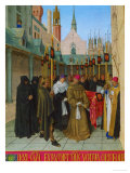 Les Heures D'Etienne Chavalier: Vespers for the Dead Giclee Print by Jean Fouquet