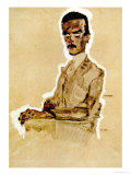 Portrait of Eduard Kosmack, Seated, 1910 Giclee Print by Egon Schiele