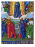 Les Heures D'Etienne Chavalier: The Assumption of the Virgin Giclee Print by Jean Fouquet