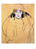 Female Head, 1917/18 Giclee Print by Gustav Klimt