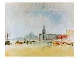 Como and Venice Sketchbook (Finberg CLXXXI) Venice: The Punta della Dogana 1819 Giclee Print by William Turner