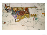 The Yellow Town, 1914 Giclee Print by Egon Schiele