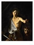 David with the Head of Goliath Giclee Print by Caravaggio