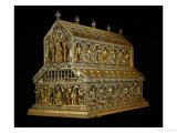 Shrine of the Three Magi, Begun 1181, Gold, Enamel, Precious Stones, Cameos, Antique Gems Reproduction procédé giclée par Nicholas of Verdun
