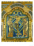 Crucifixion, from the Verdun Altar, 12th CE, Enamel Giclee Print by  Nicholas of Verdun