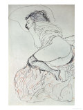 Female Nude, Turned to the Left, 1912-13 Gicl&#233;e-Druck von Gustav Klimt