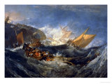 The Wreck of a Transport Ship Circa 1810 Giclee Print by J. M. W. Turner