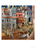 The Blessings of Good Government Giclee Print by Ambrogio Lorenzetti