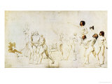 Sketch for the Oath of the Jeu De Paume Giclee Print by Jacques-Louis David