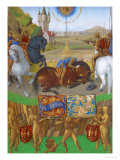 Les Heures D'Etienne Chavalier: The Crucufixion of Saint Peter Giclee Print by Jean Fouquet