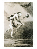 Linda Maestra, Gentle Mistress, Etching No. 68 from the Caprichos, Around 1798 Giclee Print by Francisco de Goya