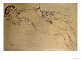 Female Nude Turned Left, 1914/15 Reproduction proc&#233;d&#233; gicl&#233;e par Gustav Klimt