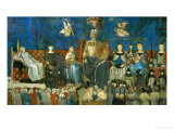 The Allegory of Good Government, Showing the Virtues Giclee Print by Ambrogio Lorenzetti
