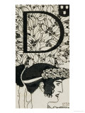 Initial D, Used in the Third Issue of Ver Sacrum, Austria, 1898 Giclee Print by Gustav Klimt