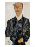 Portrait of Architect Otto Wagner Giclee Print by Egon Schiele
