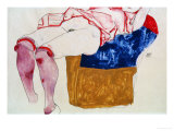 Reclining Woman with Mauve Stockings Giclee-vedos tekijänä Egon Schiele