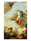 The Virgin of Carmel Appearing to Saint Simeon Stock Giclee Print by Giovanni Battista Tiepolo