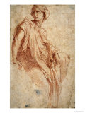 Study for the Phrygian Sibyl, 1511-1512 Reproduction procédé giclée par Raphael