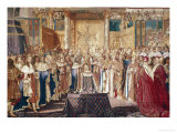 The Coronation of Louis XIV (June 7, 1654) Giclee Print by Charles Le Brun