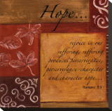 Words to Live By, Hope Stretched Canvas Print by Debbie DeWitt
