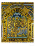 Last Supper, from the Verdun Altar, Enamel in Champleve Technique on Gilded Copper, Begun 1181 Giclee Print by Nicholas of Verdun