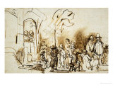 The Star of the Kings, A Dutch Custom to Celebrate the Feast of Epiphany (January 6th) Giclee Print by  Rembrandt van Rijn