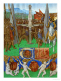 Crucifixion of Saint Peter, From: Heures D'Etienne Chevalier, Around 1445 Giclee Print by Jean Fouquet
