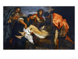 Carrying Jesus Christ to the Tomb, Around 1520 Giclee Print by  Titian (Tiziano Vecelli)