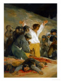 The Third of May (Detail), the Execution of Spanish Insurgents by Napoleonic Troops Giclee Print by Francisco de Goya