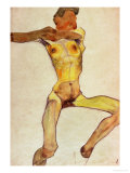 Male Nude, Yellow, 1910 Giclee Print by Egon Schiele