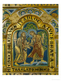 The Translation of Enoch, Verdun Altar, Begun 1181, Enamel Reproduction procédé giclée par Nicholas of Verdun