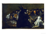 Witches' Sabbath (Aquellare), Detail Giclee Print by Francisco de Goya