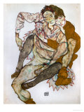 Seated Couple (Egon Und Edith Schiele), 1915 Giclee Print by Egon Schiele