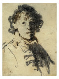 Selfportrait with Mouth Open Giclee Print by  Rembrandt van Rijn