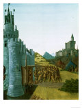 Philippe III Le Hardi (1245-1285), French King 1270-1285, Captures the Castle Foix Giclee Print by Jean Fouquet