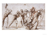 The Massacre of the Innocents, Around 1509 Reproduction proc&#233;d&#233; gicl&#233;e par Raphael 