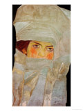 The Artist's Sister Melanie with Silver-Colored Scarves, 1908 Giclee Print by Egon Schiele