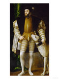 Emperor Charles (Karl) V and Dog (Ulmer Dogge), 1533 Giclee Print by Titian (Tiziano Vecelli) 