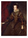 Isabella, Queen of Spain, 1602-1644 Giclée-trykk av Diego Velázquez