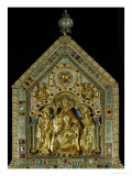Christ Enthroned, with Two Angels (On the Gable, Obverse Side) Reproduction procédé giclée par Nicholas of Verdun
