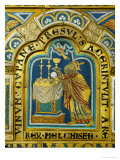 The Sacrifice of Melchizedek, Verdun Altar, Begun 1181, Enamel Giclee Print by  Nicholas of Verdun