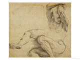 Nude Man with Raised Arms, 1511-1512 Giclee Print by  Raphael