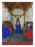 Les Heures D'Etienne Chavalier: Pentecost Giclee Print by Jean Fouquet