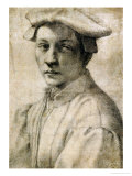 Portrait of Andrea Quaratesi, Around 1532, Black Chalk on Paper Giclee Print by Michelangelo Buonarroti
